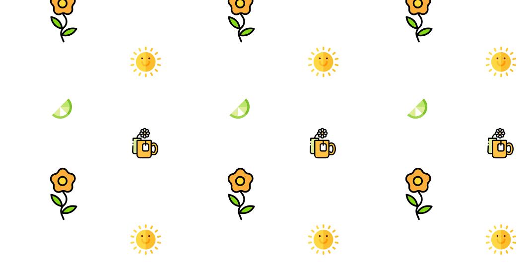 flower lemon sun patter